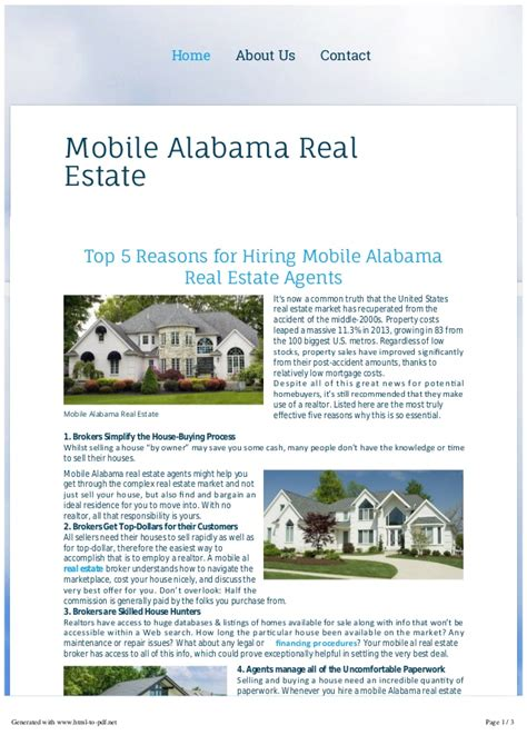 mobile alabama real estate infoonmobilealabamarealestate
