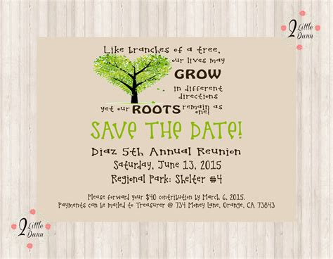 family reunion save the date cards templates save the date flyer family reunion printable digital