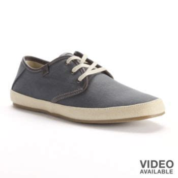 marc anthony grey canvas oxford shoes
