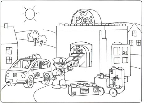 free coloring pages of lego bricks