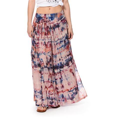 billabong after tie dye maxi skirt at zumiez pdp