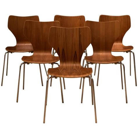 Teak Dining Room Chairs Teak Stacking Dining Chairs At 1stdibs