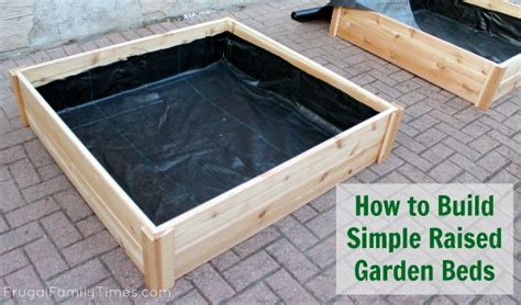 How To Build A Raised Bed Garden Frame How To Build Raised Garden Bed Boxes Growing Vegetables In Our Driveway Frugal Family Times