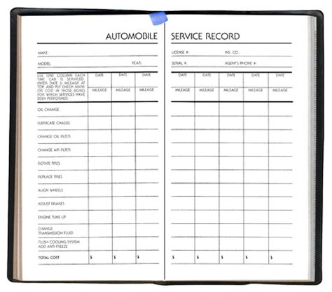 car maintenance log book pictures to pin on pinterest