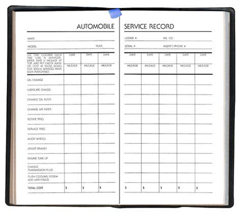 always organizing keep your vehicle service records organized