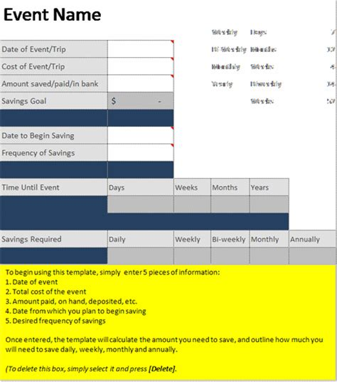 savings planner template event savings estimator or savings planner