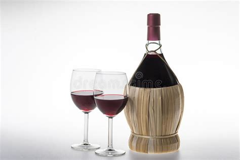 the italian dream wine 1614285195 old bottle and glasses of chianti wine stock image image of black drink 53690259