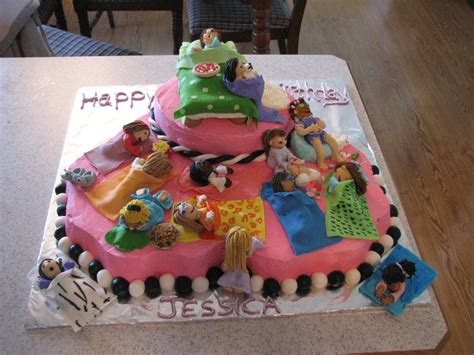 daughters sleepover birthday cake cakecentralcom