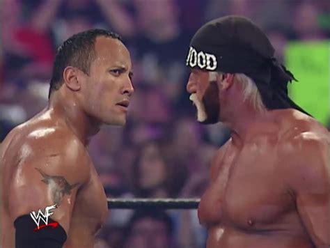 dwayne the rock johnson vs hulk hogan el quot archivo de shut quot the rock vs hollywood hulk hogan