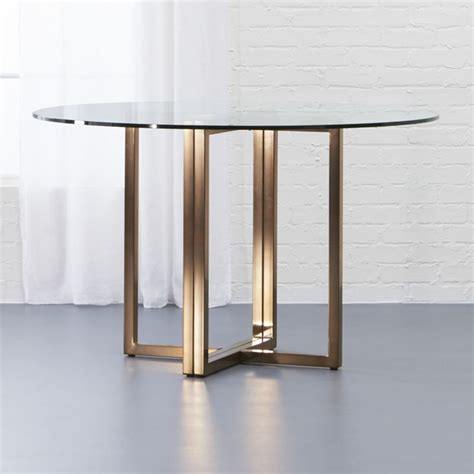 brass dining table silverado brass 47 quot dining table cb2