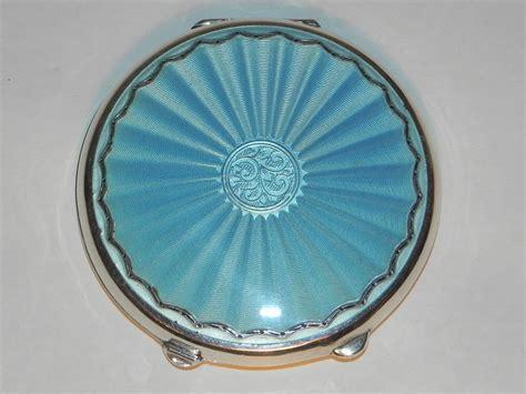 antiques atlas vintage silver guilloche enamel powder
