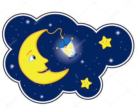 sol y la luna nubes estrellas vector de stock 169 son noche de la luna en el marco de la nube vector de stock