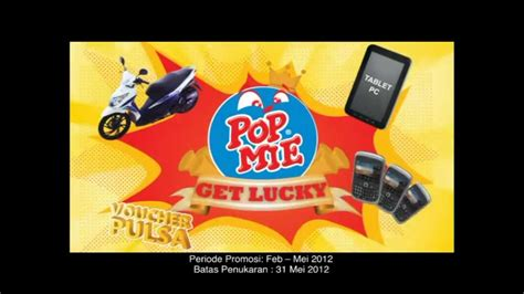 Mie Dower tvc pop mie get lucky 2012
