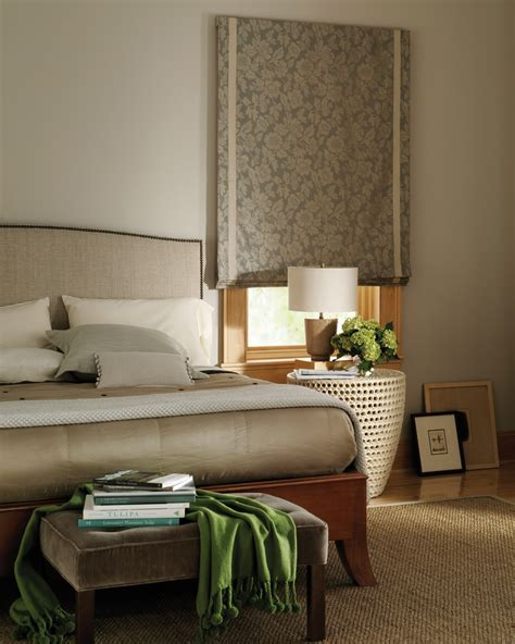 bedroom lshade hunter douglas design studio flat roman shade with banding