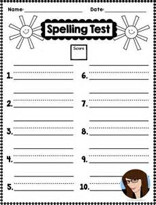 choice spelling test template free test templates doc 585410 test templates free 10