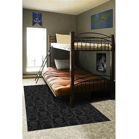 boys bedroom rugs new black grey pirate skulls crossbones area rug boys