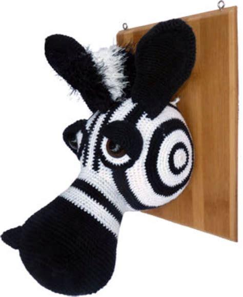 zebra pattern wall zebra wall trophy crochet pattern by sculptingwithyarn on etsy