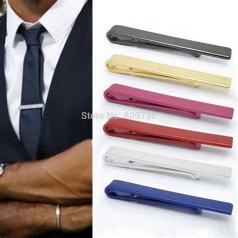 New New Jepitan Dasi Ironman shiny plain solid stainless steel tie clip bar 4 3cm