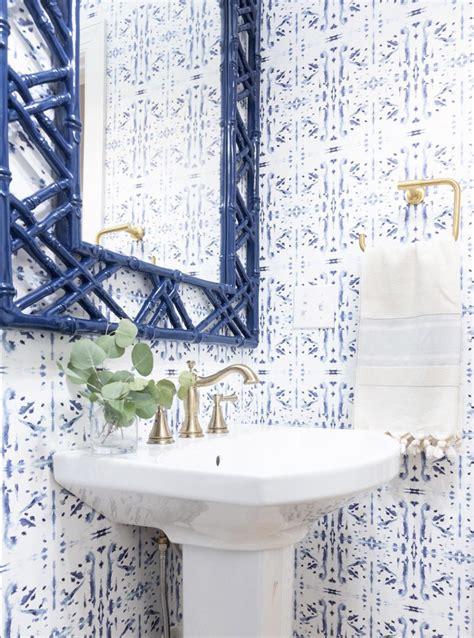 corfu navy   small bathroom wallpaper bathroom