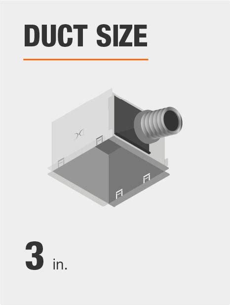 bathroom fan duct size hton bay 50 cfm ceiling bathroom exhaust fan 7114 01