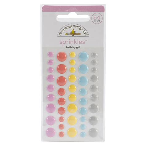 Doodlebug Sugar Shoppe Sprinkles Glossy Enamel Dots