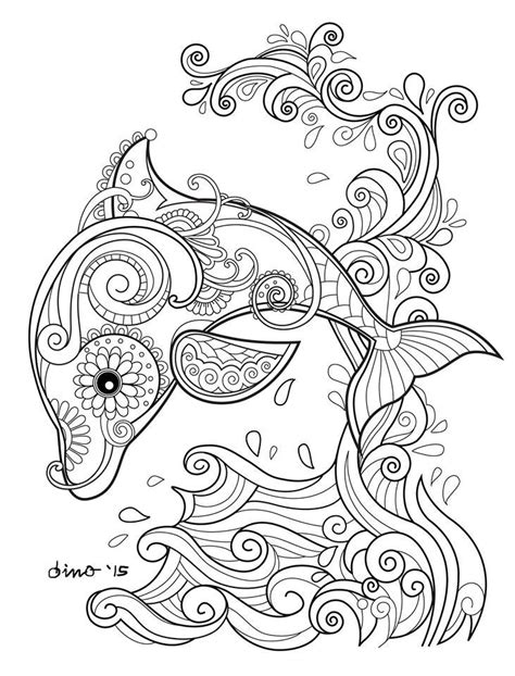 coloring pages for adults dolphins best 25 dolphin craft ideas on dolphin