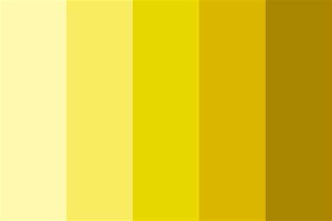 colors of yellow shades of yellow color palette