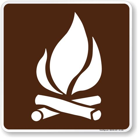 the color of a recreation area sign is cfire symbol sign for csite sku k2 1106