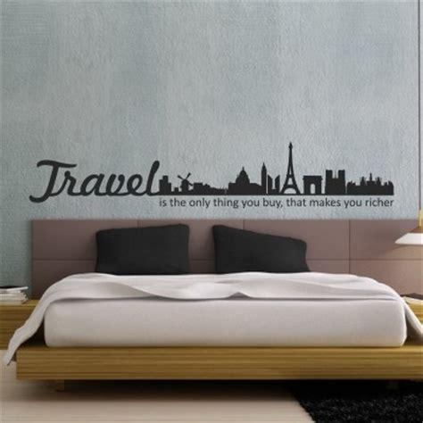 camer viaggi adesivo murale travel makes you richer stickers murali