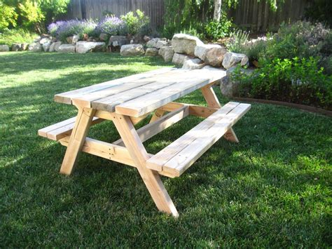picnic bench plan ana white bigger kids picnic table diy projects