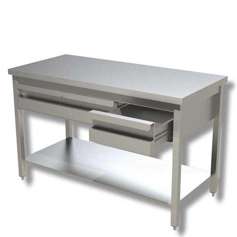 tavolo da lavoro in acciaio ristopro tavolo da lavoro in acciaio con ripiano e