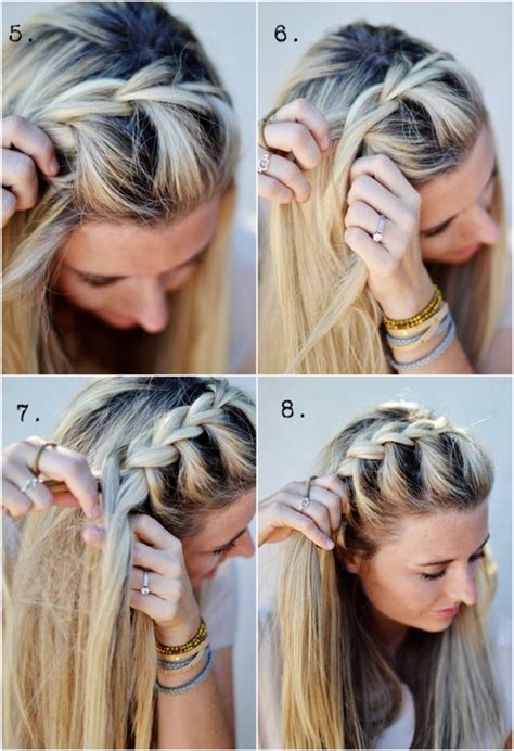 diy hairstyles for thin hair how to do diy half up side french braid hairstyle diy tag
