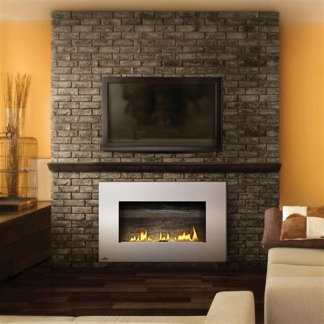 kaminofen ummauern in wall propane fireplaces napoleon vent free plazmafire