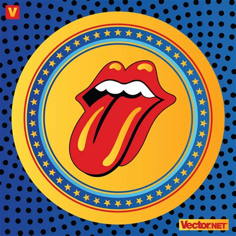 rolling stones lips logo vector art graphics