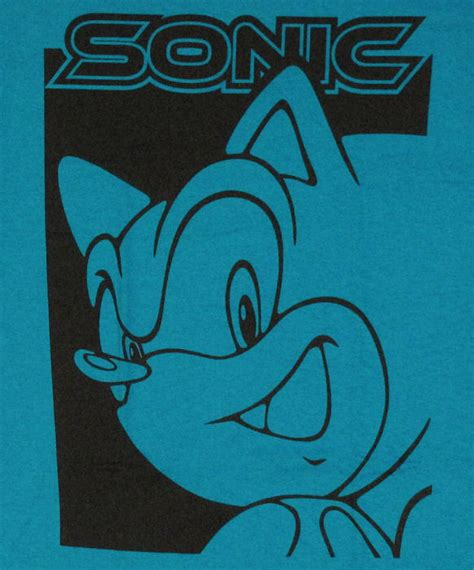 Two Tone Lettering Shirt sonic the hedgehog two tone t shirt