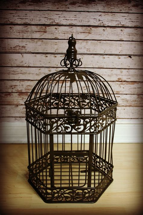 Bird Cage Decor Large Vintage Bird Cage Wedding Card Holder Home Decor Vintage