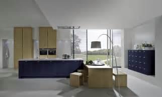 Islands For Kitchens dark blue shaker kitchen style