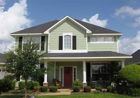 exterior house painting colors with green wall paint and white windows frame home interior