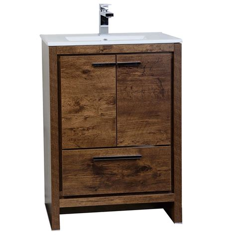 23 inch bathroom vanity buy cbi enna 23 5 inch rosewood modern bathroom vanity tn