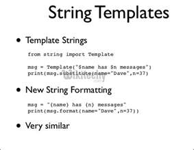 python template class template string template class in python by