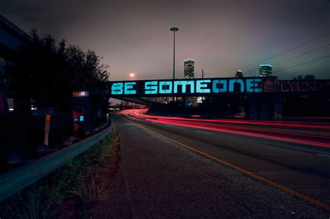 light show in houston houston s quot be someone quot graffiti turned into stunning light