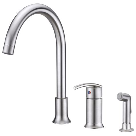 kitchen single handle faucet sweep collection single handle kitchen faucet with side