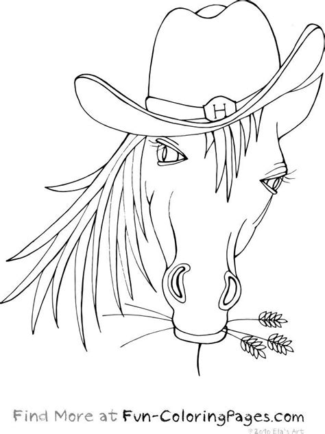 coloring pages of cowboys and horses animals coloring pages with cowboy hat