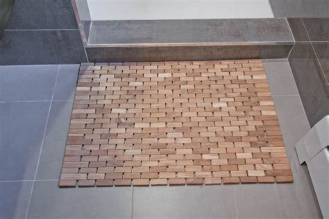 Can You Wash Bathroom Floor Mats by Bamboo Shower Mat The Point Pluses Homesfeed