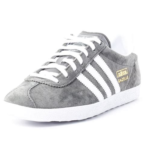 adidas gazelle og w 195 絽 womens suede grey white trainers new