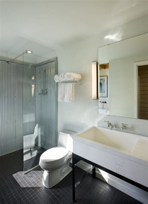 Using Corrugated Metal For Shower Walls corrugated metal shower walls bathrooms