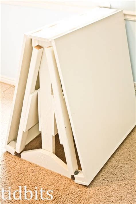 folding cutting table plans folding craft cutting table house ideas