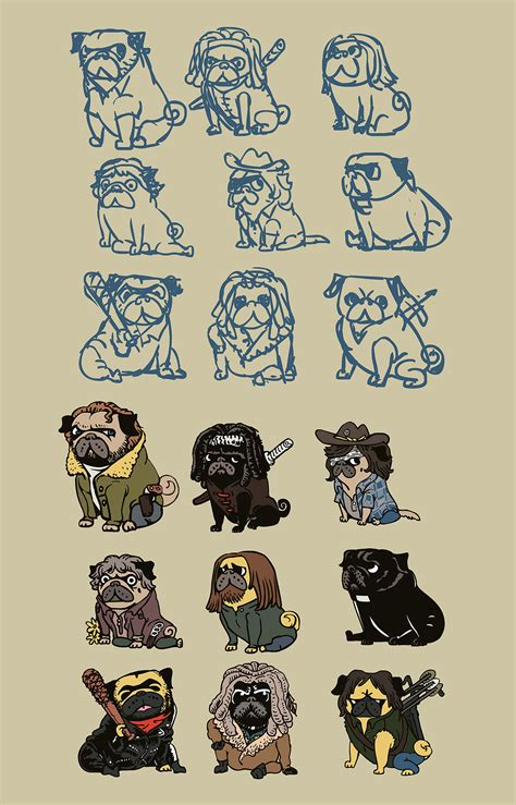 when do pug puppies start walking send in the pugs threadless