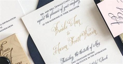 Hochzeitseinladung Navy by Gold Navy And Blush Wedding Invitation For A Kentucky