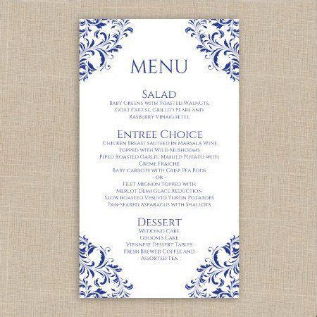 Menu Place Cards Template by 1000 Ideas About Wedding Menu Template On